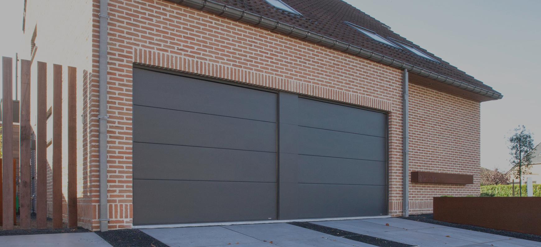 Porte de garage thermo scid portes et fen tres - Porte de garage double ...