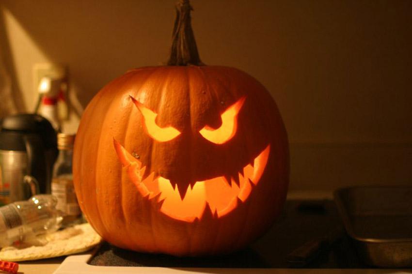 D corer ses appuis de fen tre pour halloween avec des - Citrouille effrayante ...